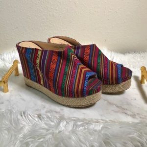 🆕 Chinese Laundry Boho Wedges - Multi Color✨